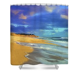 The Shoreline At Half Moon Bay Shower Curtain