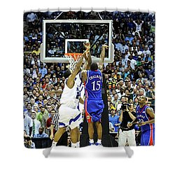 The Shot, 3.1 Seconds, Mario Chalmers Magic, Kansas Basketball 2008 Ncaa Championship Shower Curtain