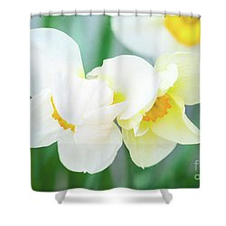 The Shy Couple Shower Curtain