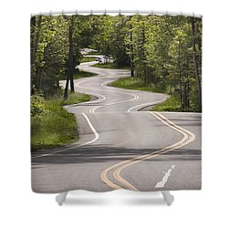 Shower Curtain featuring the photograph The Signature Road by Barbara Smith