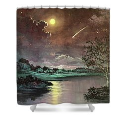 The Silence Of A Falling Star Shower Curtain