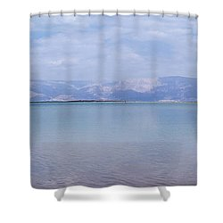 The Silence Of The Dead Sea Shower Curtain by Yoel Koskas