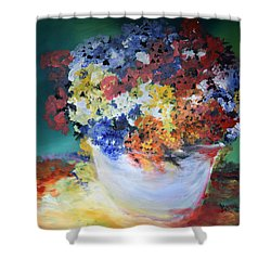 The Silver Pot Shower Curtain