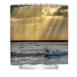 The Silver Surfer Shower Curtain by Peter Tellone
