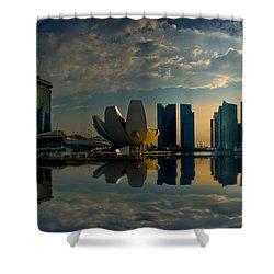 The Singapore Skyline Shower Curtain