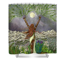 The Singing Girl Shower Curtain