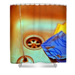 The Sink Shower Curtain by Silvia Ganora