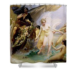 The Sirens Shower Curtain by Edouard Veith