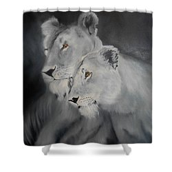 The Sisters Shower Curtain by Maris Sherwood