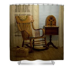 The Sitting Place Shower Curtain
