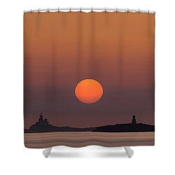 The Skerries Lighthouse  Shower Curtain