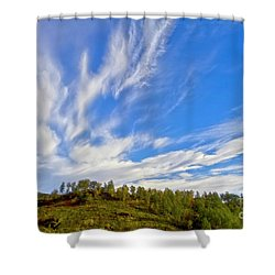 The Skies Shower Curtain by Heiko Koehrer-Wagner