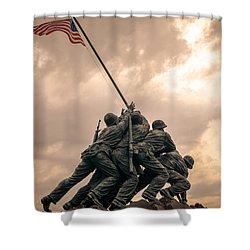 The Skies Over Iwo Jima Shower Curtain