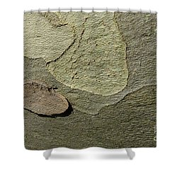 The Skin Of Tree Shower Curtain by Jean Bernard Roussilhe