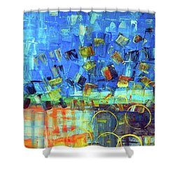 The Sky Fell Shower Curtain by Everette McMahan jr