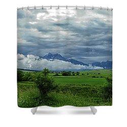The Sky Has Fallen Shower Curtain