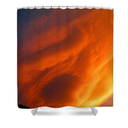 The Sky Is Burning Shower Curtain