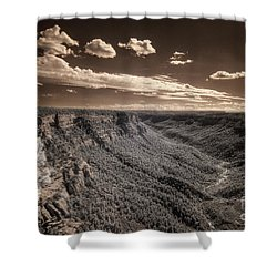 The Sky Tilts Down To The Canyon Shower Curtain