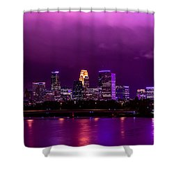 The Sky Was So Purple...  Shower Curtain by Mark Goodman