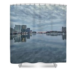 Shower Curtain featuring the photograph The Sliver Of Sunrise by Mark Dodd