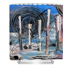The Slough Of South Palm Canyon Drive Shower Curtain by Stan  Magnan
