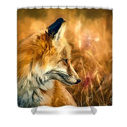 The Sly Fox Shower Curtain