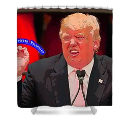 The Small Fingered Vulgarian Shower Curtain
