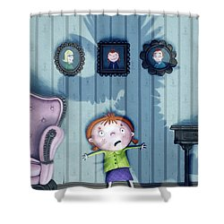 The Snarkle Beast Shower Curtain