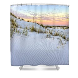The Snow White Dunes Of The Panhandle Shower Curtain