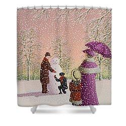 The Snowman Shower Curtain by Peter Szumowski
