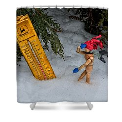 The Snowstorm Shower Curtain