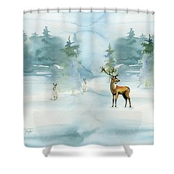The Soft Arrival Of Winter Shower Curtain