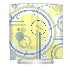 The Softness Of Circles Shower Curtain by Tara Hutton