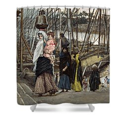 The Sojourn Shower Curtain by Tissot