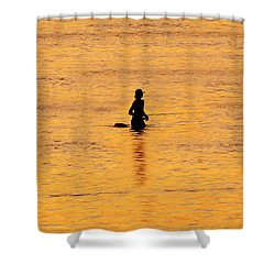 The Son Of A Fisherman Shower Curtain by David Lee Thompson