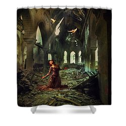 Shower Curtain featuring the photograph The Soul Cries Out by John Rivera