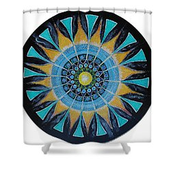 Shower Curtain featuring the painting The Soul Mandala by Patricia Arroyo