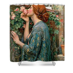 The Soul Of The Rose Shower Curtain by John William Waterhouse