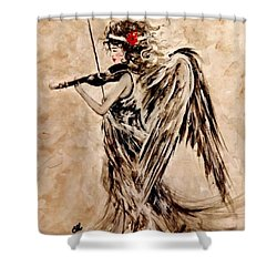 The Sound Of An Angel. Shower Curtain by Cristina Mihailescu