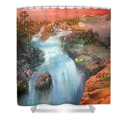 The Source Shower Curtain by Sherry Shipley