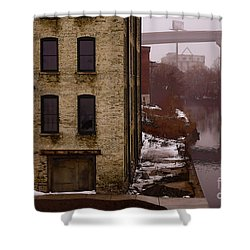 The South Bank Shower Curtain by David Blank