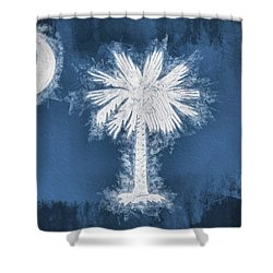 The South Carolina Flag Shower Curtain