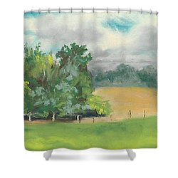 The South Field Shower Curtain by Terri  Meyer