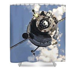 The Soyuz Tma-20 Spacecraft Shower Curtain by Stocktrek Images