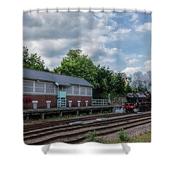 The Spa Express Departing Scarborough Shower Curtain