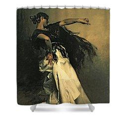 The Spanish Dancer Shower Curtain by John Singer Sargent