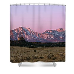 The Spanish Peaks Shower Curtain by Aaron Spong