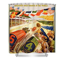 The Speedway Shower Curtain