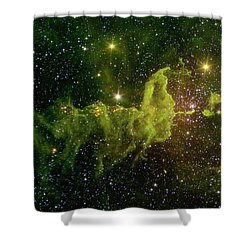 Shower Curtain featuring the photograph The Spider And The Fly Nebula by NASA JPL - Caltech