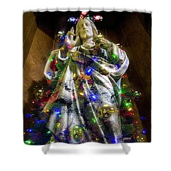 The Spirit Of Christmas Shower Curtain